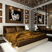 красивый дизайн комнаты в горчичном цвете фото