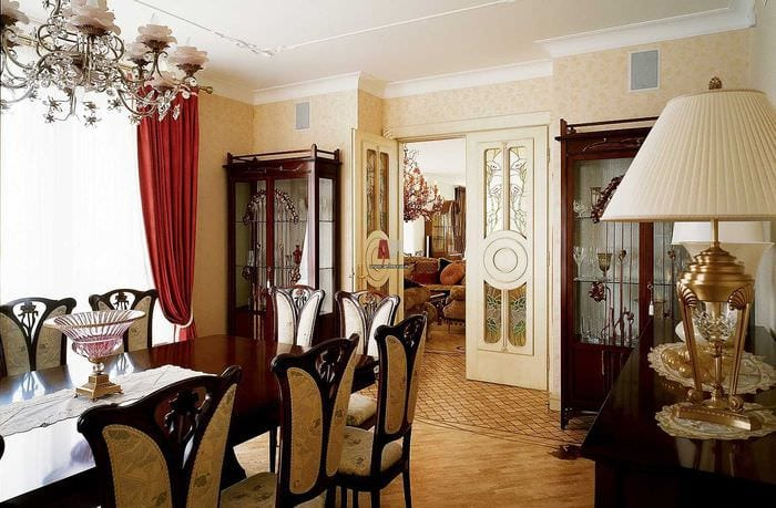 светлый декор гостиной в стиле модерн