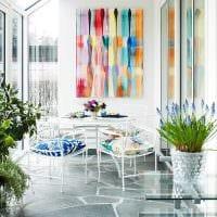 светлый интерьер квартиры в весеннем стиле картинка
