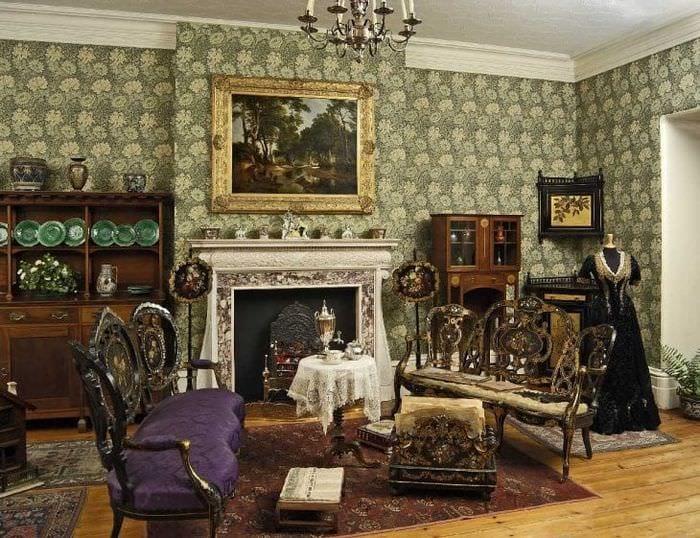 красивый декор спальни в викторианском стиле