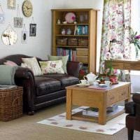 современный стиль гостиной в винтажном стиле картинка