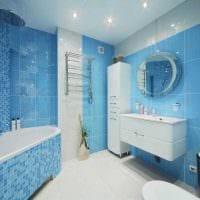 яркий декор гостиной в голубом цвете картинка