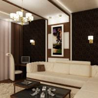 яркий темный пол в дизайне комнаты фото