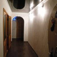 яркий темный пол в декоре спальни картинка
