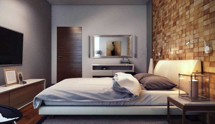 классический темный пол в дизайне комнаты