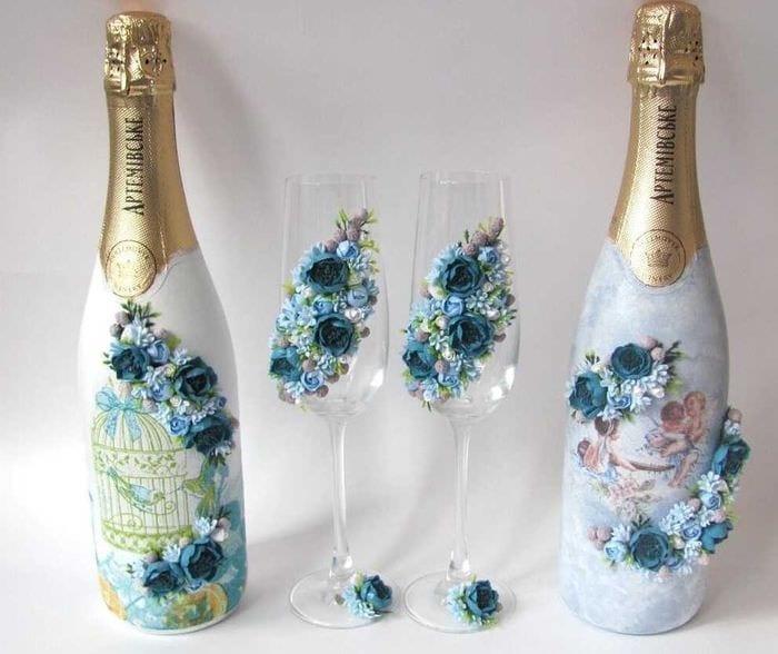 фото красиво украшенных бутылок