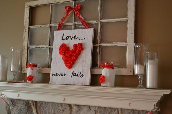 красивое декорирование квартиры подручными материалами на день святого валентина