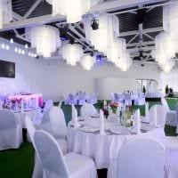 яркое оформление свадебного зала шариками фото