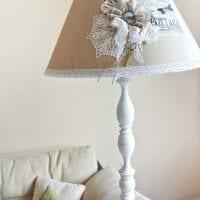 необычное украшение абажура лампы своими руками картинка