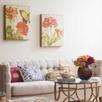 красивое украшение интерьера комнаты в стиле прованс картинка