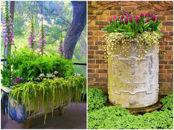 оригинальное оформление сада своими руками