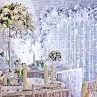 красивое декорирование свадебного зала шариками фото