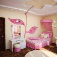 вариант красивого интерьера комнаты для девочки фото