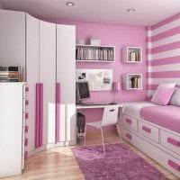 идея оригинального стиля спальни для девочки фото