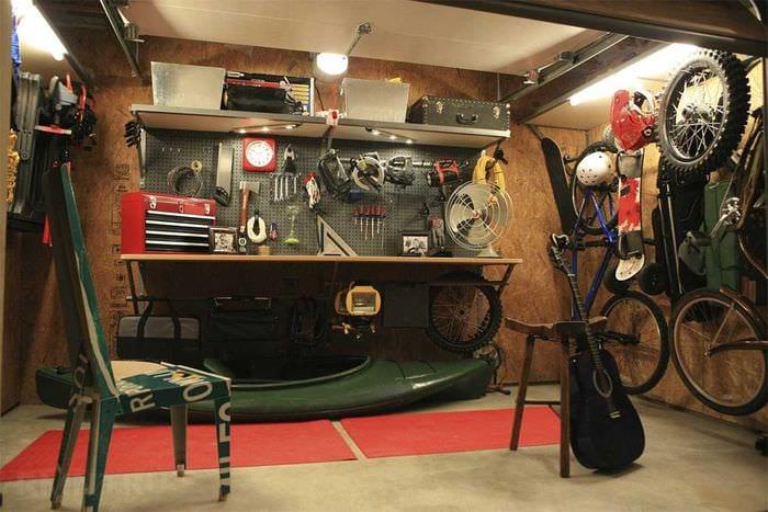 идея красивого стиля гаража