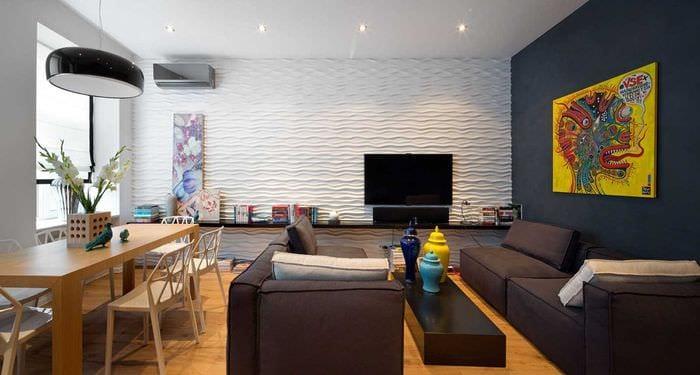 идея красивого интерьера спальни 3-х комнатной квартиры