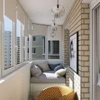вариант красивого дизайна небольшого балкона картинка