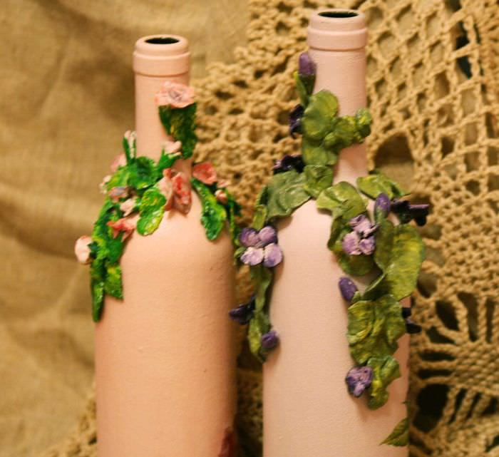 Дизайн бутылок своими руками фото аналогичной