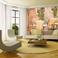 идея оригинального украшения интерьера гостиной картинка