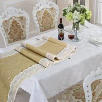 вариант красивого декорирования стола фото