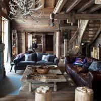идея яркого дизайна дома в дереве картинка