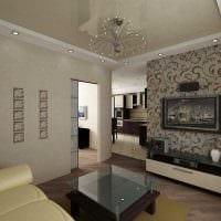 идея яркого дизайна 2 комнатной квартиры фото пример