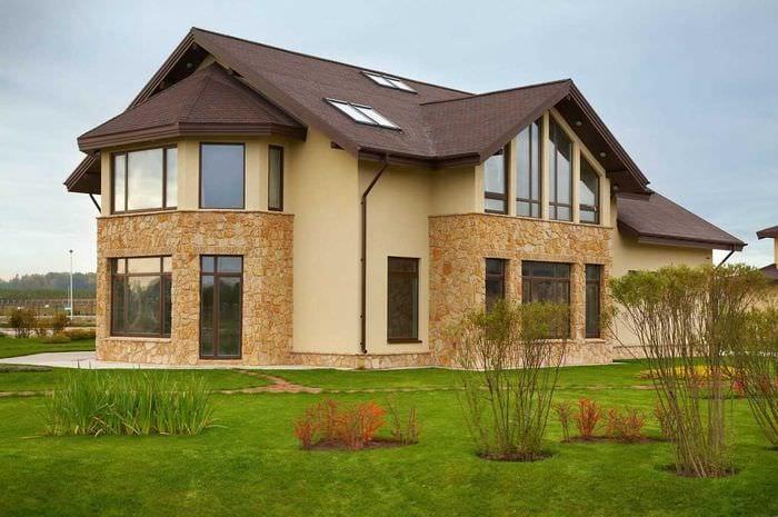 простой недорогие фасады домов фото указывается там же