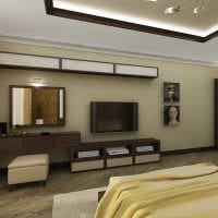 вариант оригинального интерьера 2 комнатной квартиры фото