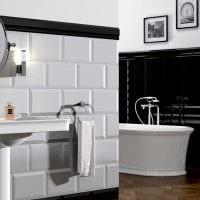 идея яркого дизайна белой ванной комнаты фото