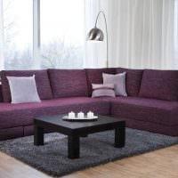 вариант современного дизайна гостиной с диваном картинка