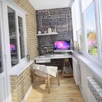 вариант красивого дизайна маленького балкона фото