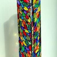 идея оригинального оформления напольной вазы фото