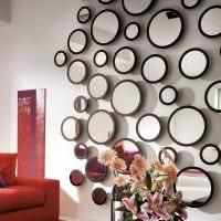 вариант яркого декорирования стен в помещениях фото