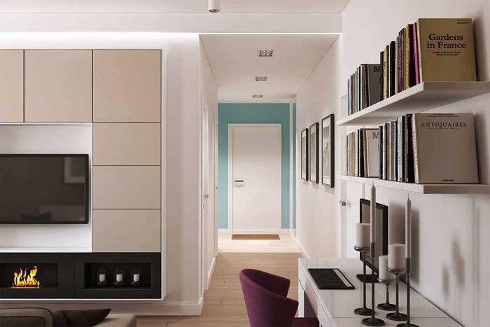 вариант оригинального дизайна квартиры