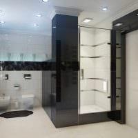 вариант яркого стиля белой ванной комнаты картинка