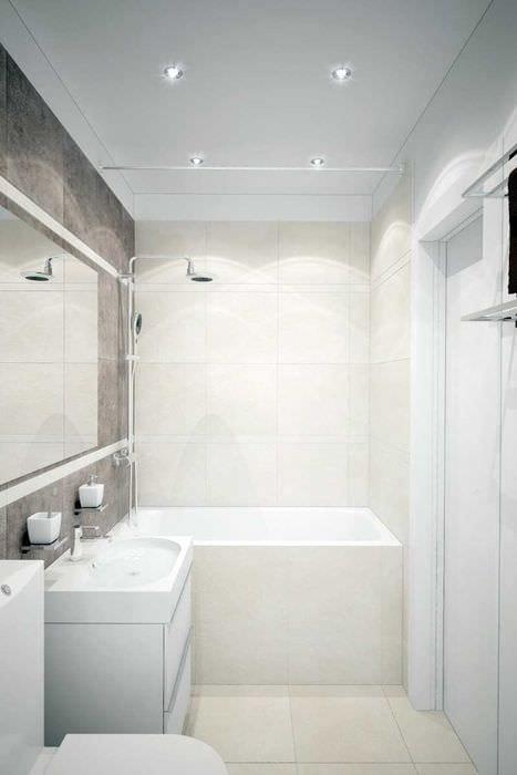 идея необычного дизайна белой ванной комнаты