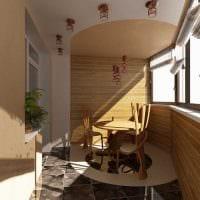 вариант оригинального интерьера маленького балкона фото