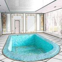 идея необычного декора небольшого бассейна картинка