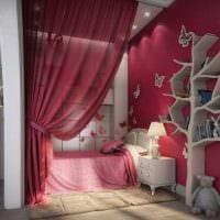 идея цветной декора комнаты для девочки картинка