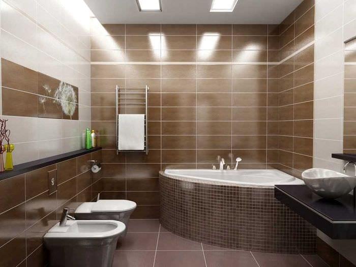 вариант необычного дизайна ванной