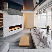 идея красивого украшения интерьера гостиной фото
