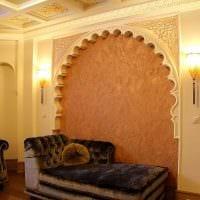 идея красивой декоративной штукатурки в стиле квартиры фото