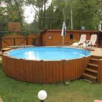 вариант современного дизайна маленького бассейна фото