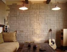 вариант необычного декоративного камня в стиле квартиры картинка