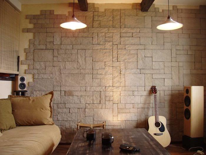 декоративный кирпич на стенах фото шары