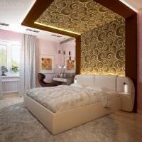 вариант стильного декорирования дизайна спальни фото