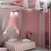 идея стильного декорирования дизайна спальни картинка