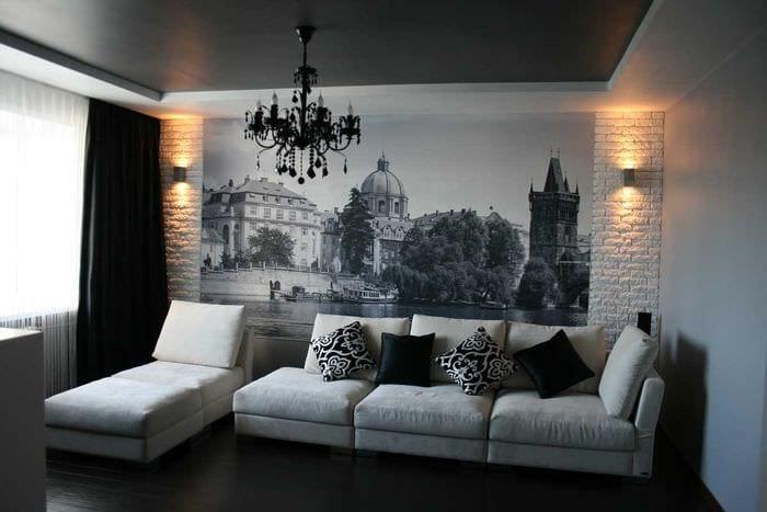 идея красивого декорирования интерьера гостиной