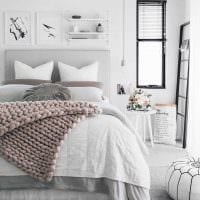 вариант яркого декорирования дизайна спальной комнаты фото