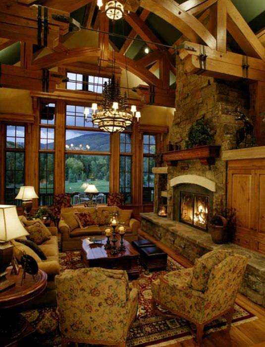 вариант оригинального дизайна спальни в деревенском стиле